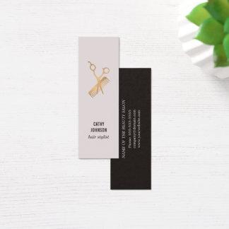 Modernes elegantes Imitat-Gold Scissors Kamm Mini-Visitenkarten