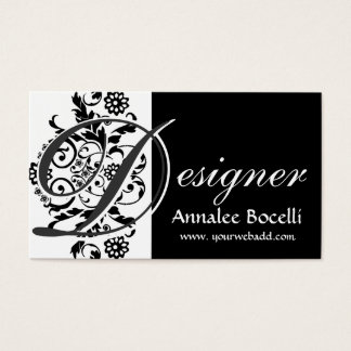 Modernes elegantes modisches Monogramm-Mit Visitenkarte