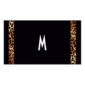 Modernes elegantes Monogramm-Initialen-Tier-Muster Visitenkarten