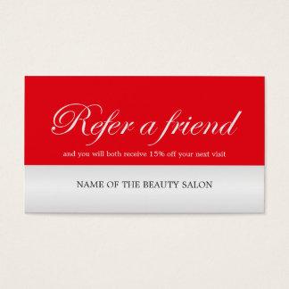 Modernes elegantes rotes Imitat-silberne Visitenkarten