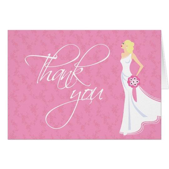 Modernes Eleganz-Brautparty danken Ihnen Karte