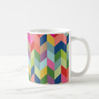 Modernes Fischgrätenmuster-Muster Kaffeetasse