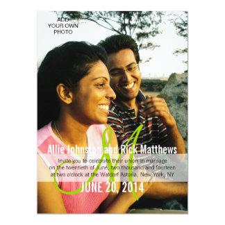 Modernes Foto-Hochzeits-Einladungs-Monogramm 16,5 X 22,2 Cm Einladungskarte