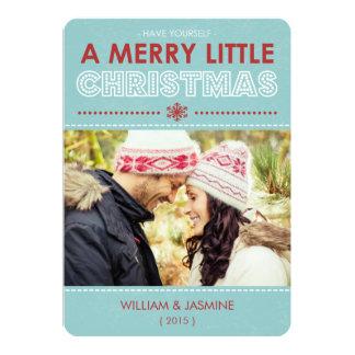 Modernes fröhliches kleines WeihnachtsFoto-flaches Karte