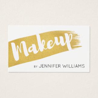 Modernes gebürstetes Imitat-Gold bilden Künstler Visitenkarte