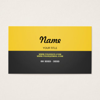 Modernes Gelb Visitenkarte