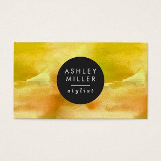 Modernes gelbes Aquarell Visitenkarte