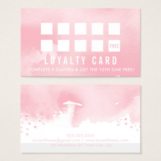 Modernes gemaltes rosa Aquarell DER Visitenkarte