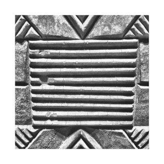 Modernes geometrisches schwarzes u. weißes leinwanddruck