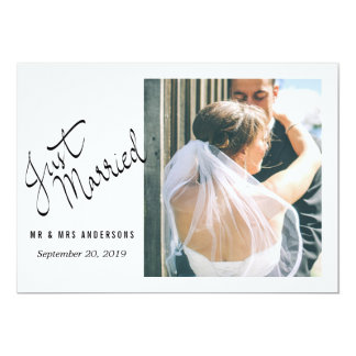 Modernes gerade verheiratetes 12,7 x 17,8 cm einladungskarte