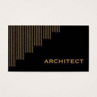 Modernes Gold, schwarzer Architekt der vertikalen Visitenkarte