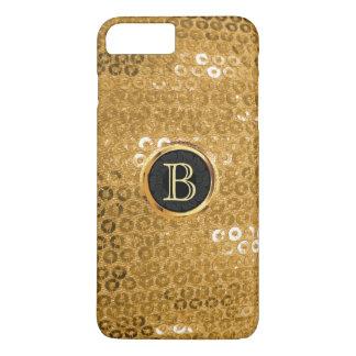 Modernes Goldfolie Paillettes Monogramm iPhone 8 Plus/7 Plus Hülle