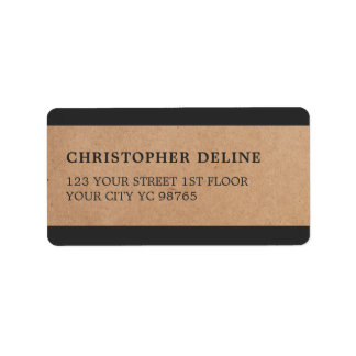 Modernes Grau Stripes Packpapier-Aufkleber Adressaufkleber