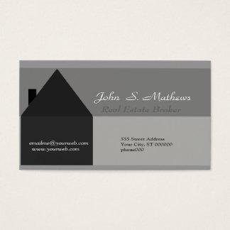 Modernes Haus-Schwarzes u. Grau Visitenkarten