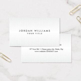 Modernes hellgraues und weißes berufliches Profil Visitenkarte