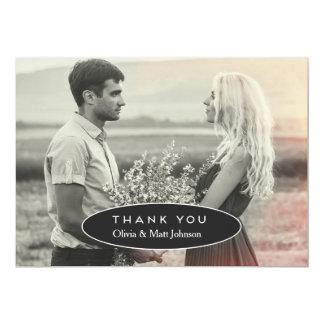 Modernes Hochzeits-Foto danken Ihnen zu kardieren 12,7 X 17,8 Cm Einladungskarte