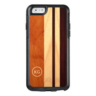 Modernes hölzernes Korn Stripes kundenspezifisches OtterBox iPhone 6/6s Hülle