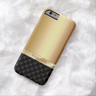Modernes Luxusgold mit individueller Name iPhone 6 Barely There iPhone 6 Hülle