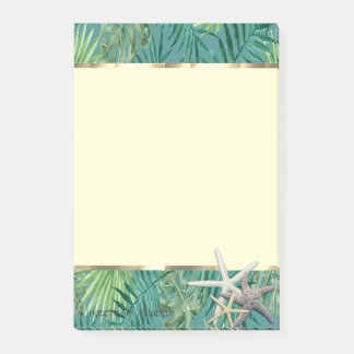 Modernes Palmblatt, Starfish Post-it Klebezettel