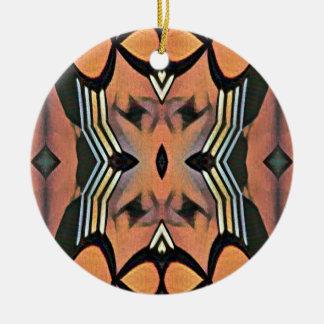 Modernes Pfirsich-Schwarz-künstlerischer Keramik Ornament