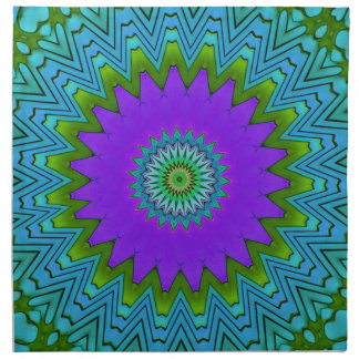 Modernes Poplila Grün farbiger Mandala Stoffserviette