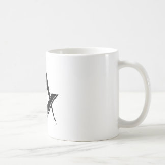 Modernes Quadrat und Kompass Kaffeetasse