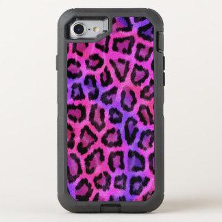 Modernes rosa Leopard-Muster OtterBox Defender iPhone 8/7 Hülle