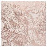 Modernes Rosengoldblumenillustration erröten an Stoff