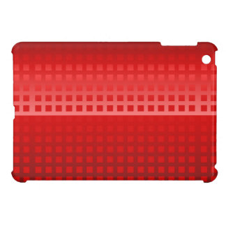 Modernes rotes Steigungs-Quadrat deckte Muster mit iPad Mini Hülle