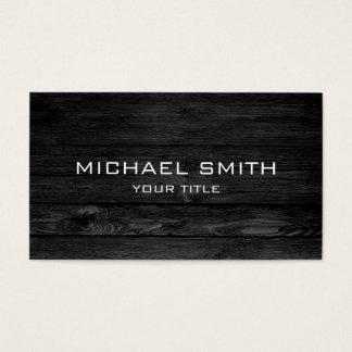 Modernes schwarzes Holz Visitenkarte