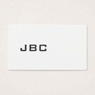 Modernes schwarzes/weißes 30o1 visitenkarte