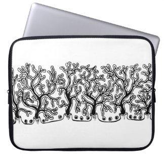 Modernes Schwarzweiss-Joshua-Baum-Neopren Laptopschutzhülle