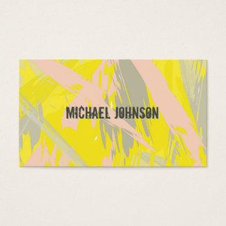 Modernes Sommer-Gelb abstrakt Visitenkarte