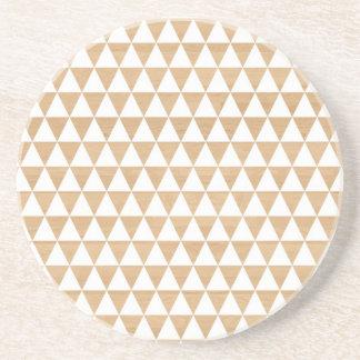 Modernes Stammes- hölzernes geometrisches schickes Sandstein Untersetzer