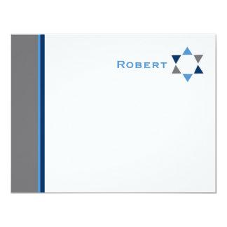 Modernes Stern-Bar Mitzvah danken Ihnen zu Karte