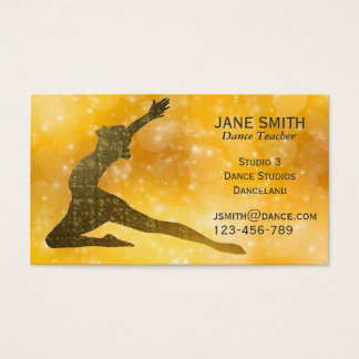 Modernes stilvolles des Tanz-Lehrer-Tanz-Lehrers Visitenkarte