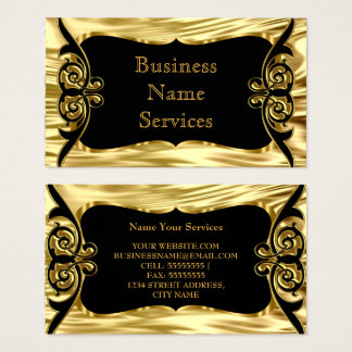 Modernes stilvolles Geschäfts-Deko-Goldschwarzes Visitenkarte