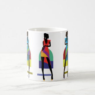 Modernes stilvolles modisches Illustrationsmuster Kaffeetasse