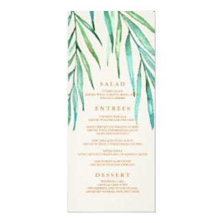 Modernes tropisches Strand-Hochzeits-Menü 10,2 X 23,5 Cm Einladungskarte