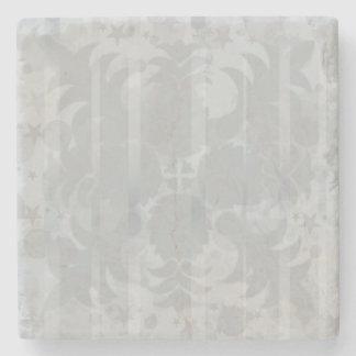 Modernes Vintages silbernes Grau-mit Blumenmuster Steinuntersetzer