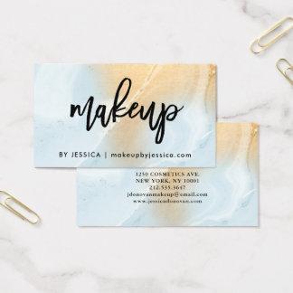 Modernes weiches Make-up des Blau-und Visitenkarte