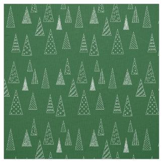 Modernes Weihnachtsbaum-Muster Stoff
