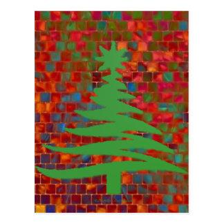Moderner weihnachtsbaum postkarten zazzle for Weihnachtsbaum fa r fensterbank