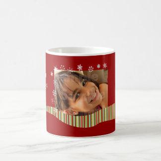 Modernes Weihnachtspersonalisierte Foto-Tasse Kaffeetasse
