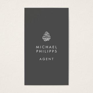 Modernes wirkliches Anwesen Businesscards Grau Visitenkarte