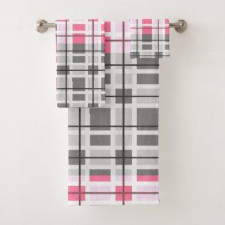 Modernes zeitgenössisches abstraktes Muster Badhandtuch Set