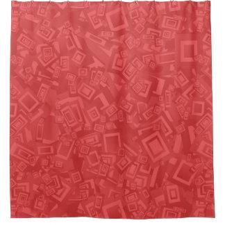 Modernes zeitgenössisches abstraktes rotes Muster Duschvorhang