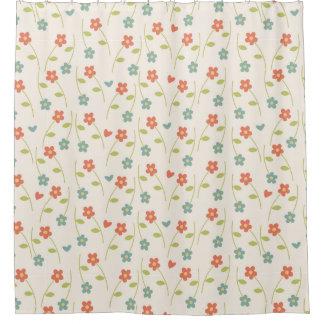 Modernes zeitgenössisches Blumenmuster Duschvorhang