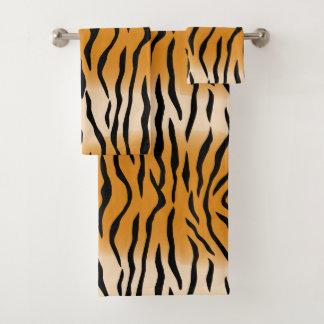 Modernes zeitgenössisches Tiger-Muster Badhandtuch Set