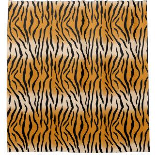 Modernes zeitgenössisches Tiger-Muster Duschvorhang
